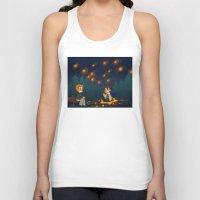 destiel Tank Tops featuring starry pond by noCek