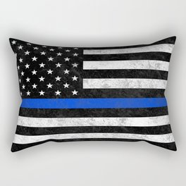 Thin Blue Line Flag 2 Rectangular Pillow