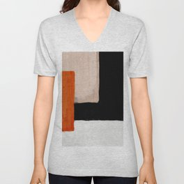 abstract minimal 14 Unisex V-Neck