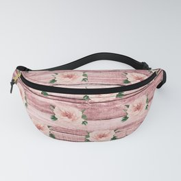 Blush Floral on Wood 02 Fanny Pack