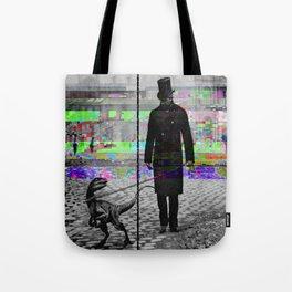Walking my dinosaur Tote Bag