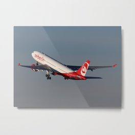 D-ALPA departing Berlin Tegel to New York Metal Print