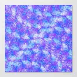 Purple, Blue and White; Fluid Abstract 54 Canvas Print