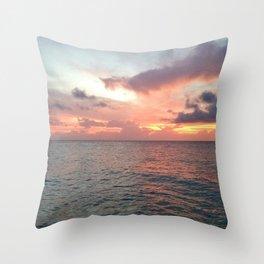 Eagle Beach Throw Pillow