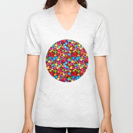 A Handful of Candy Unisex V-Neck