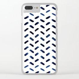 Blue Indigo Series - Stroke Pattern Clear iPhone Case