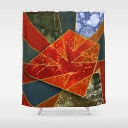 Abstract #330 Shower Curtain
