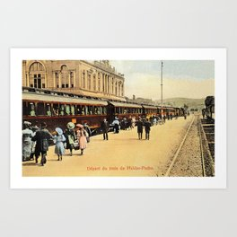 1900s Haydarpasa railroad station, train Art Print