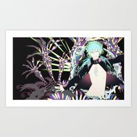 dmmd Art Prints featuring Drive into DMMd by chibishi