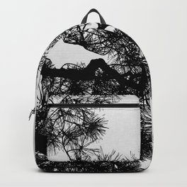 Pine Tree Black & White Backpack