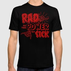 Rad to the Power of Sick - Red Print Mens Fitted Tee Black MEDIUM