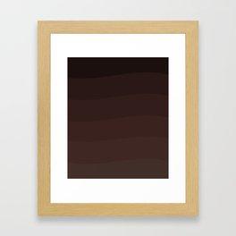 Chocolate waves. Framed Art Print