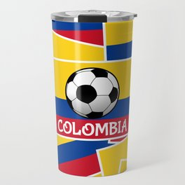 Colombia Football Travel Mug