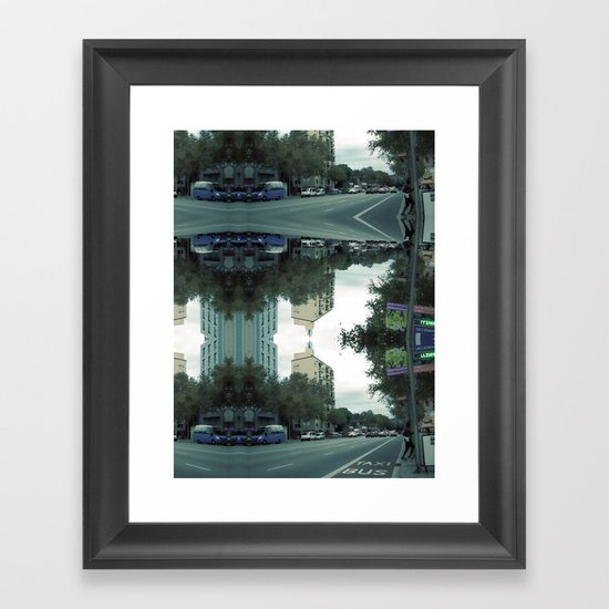 Tuesday 30 October, 2012: exit, stage right, thrice Framed Art Print