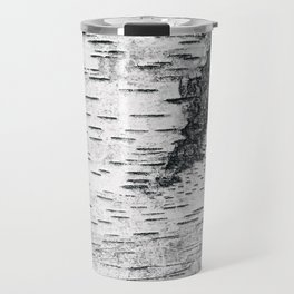 Birch, black & white Travel Mug