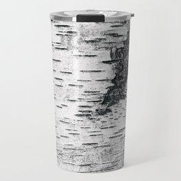 Birch, black & white Travel Mug