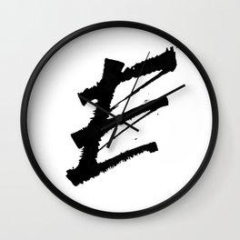 Letter E Ink Monogram Wall Clock