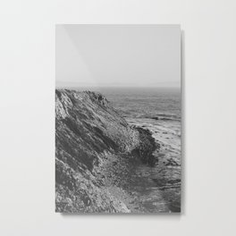 Point Vicente - California Coast - Black & White Version Metal Print