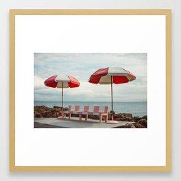 Candy Beach Framed Art Print