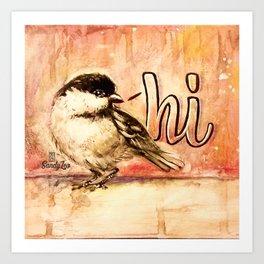 Chickadee Hi Art Print