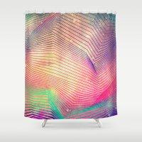 spires Shower Curtains featuring gyt th'fykk yyt by Spires