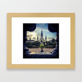 Through the Iron Gates Framed Art Print