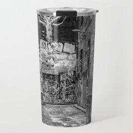 City Life (Black and White) Travel Mug