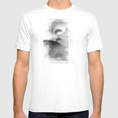 Align me not MEDIUM White Mens Fitted Tee
