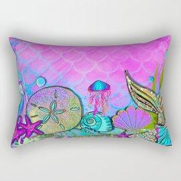 Pink Sparkly Sea Rectangular Pillow
