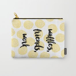 Waffles for Life Carry-All Pouch