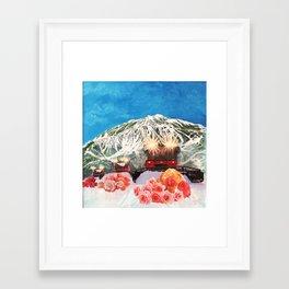 Groomed Roses Framed Art Print