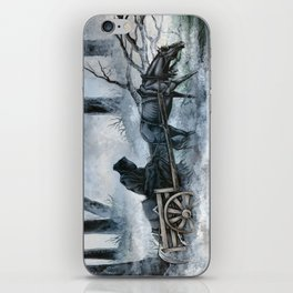 Grim Reaper with Horse in the Woods iPhone Skin