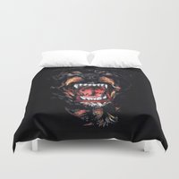 givenchy Duvet Covers featuring Givenchy Dog by I Love Decor