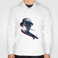 fear and loathing Hoodies featuring Fear and Loathing in Las Vegas by Idriss Dabre