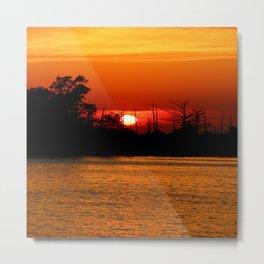 Cape Fear River Sunset Metal Print