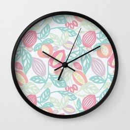 Pastel Fruits Wall Clock