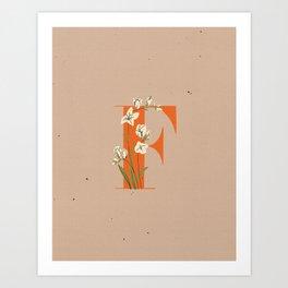 F for Fresia Art Print