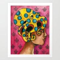 The Octopus Queen  Art Print