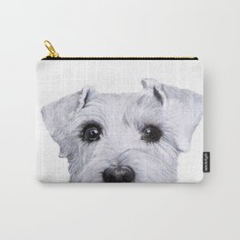 Schnauzer original painting print Carry-All Pouch
