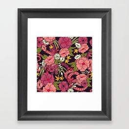 Jungle Pattern 001 Framed Art Print