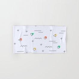 Memphis geometrical cool patter Hand & Bath Towel