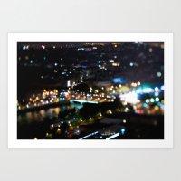 Paris Bokeh Lights - TiltShift Art Print
