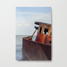 Abandoned Fishing Boat  Metal Print