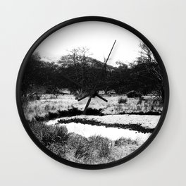 Snow on the hills Wall Clock