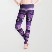 native Leggings featuring Native Spirit (Purple) by Zach Terrell