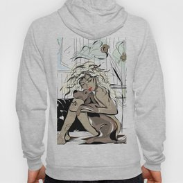 """""""My Beau"""" Paulette Lust's Original, Contemporary, Whimsical, Colorful Art  Hoody"""