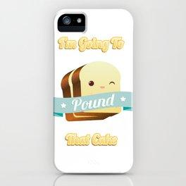 Pound Cake iPhone Case