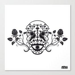 SKULL FLOWER 03 Canvas Print