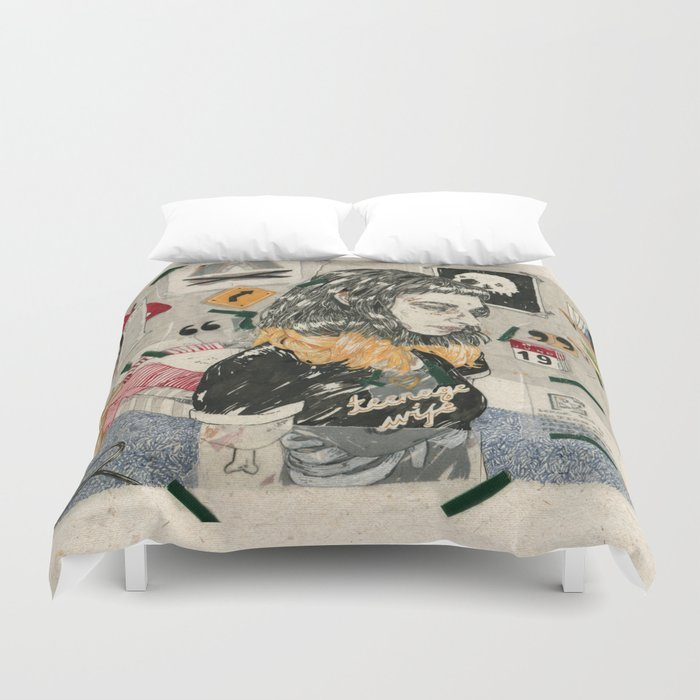 Teenage wife Duvet Cover