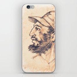 Portrait of Fidel Castro. Cuban politician, revolutionary, president of Cuba. iPhone Skin